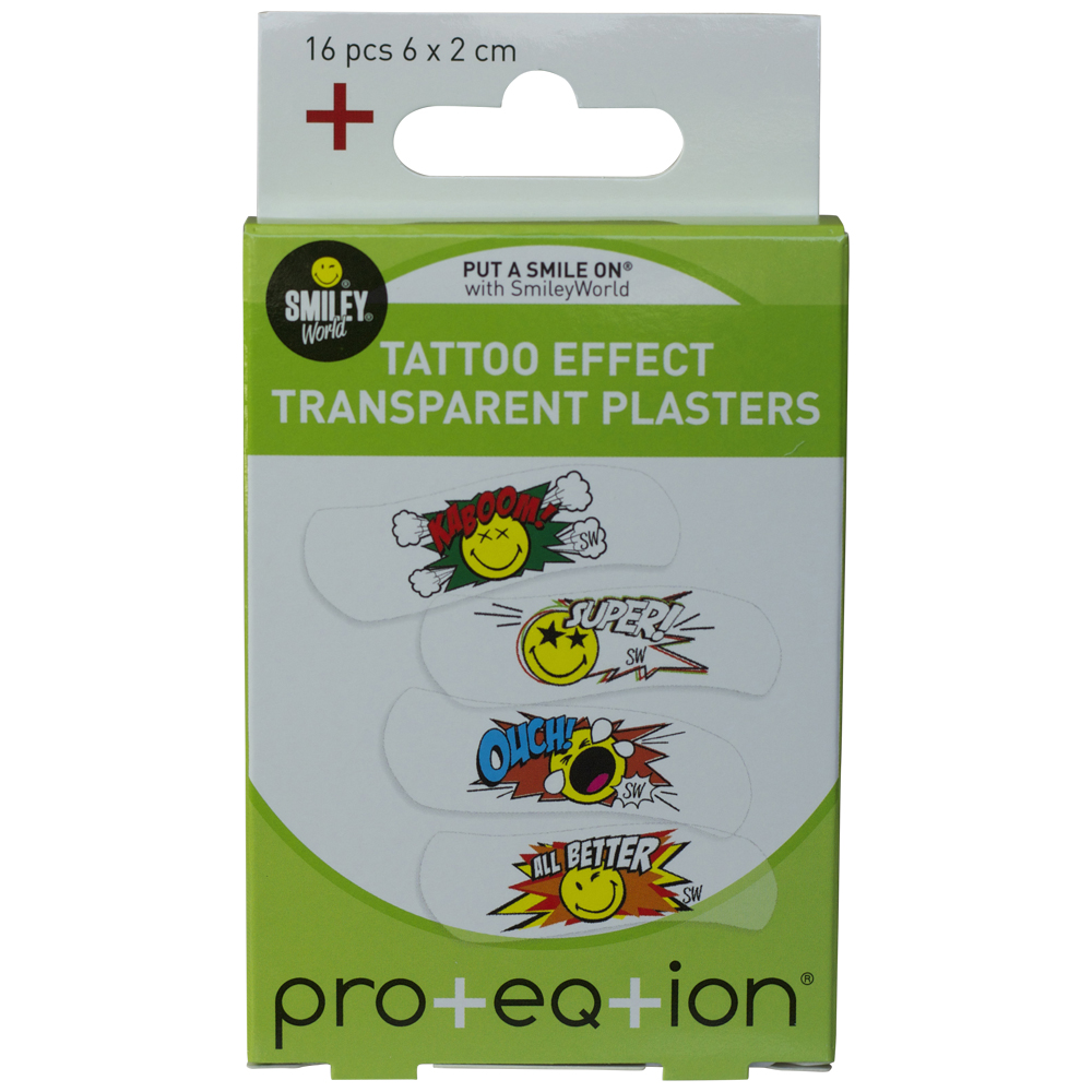 Plasters, tattoo effect, SmileyWorld